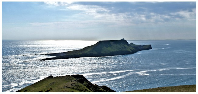 Worm's Head at full tide