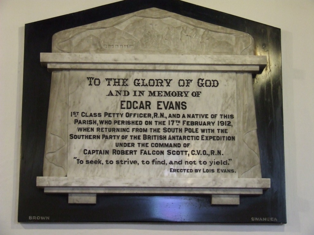 Edgar Evans  plaque