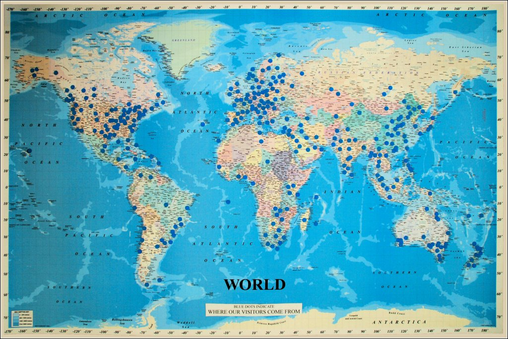 world visitor map: